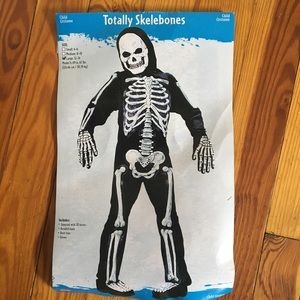 Totally skelebones size large 12/14 costume